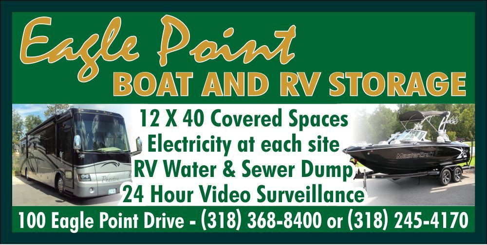 Boat Storage Signage : Today eagle point boat rv event lake darbonne life