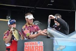 Paul Clark and Brett Preuett of the University of Louisiana-Monroe at last year's Southern Championship.  FLW photo