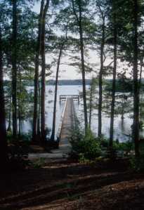 One of the state park fishing piers