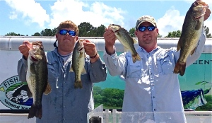 Craig Parker and Dusty Mobley with the winning Caney catch.