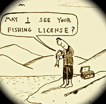 New fishing licenses operation dry water lake for Fishing license in louisiana