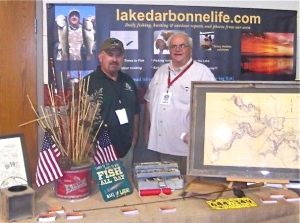 Bill Breed spent some time sharing outdoor tales at the lakedarbonnelife.com booth at Saturday's Outdoor Expo.