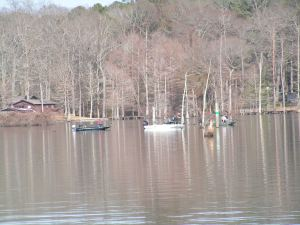 Crappie are bunched up deep and so are the fishermen!