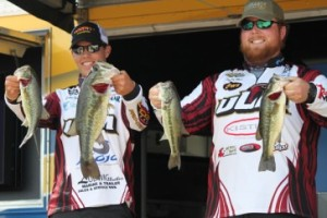 Trapper Munn and Dustin Perkins of the University of Louisiana at Monroe
