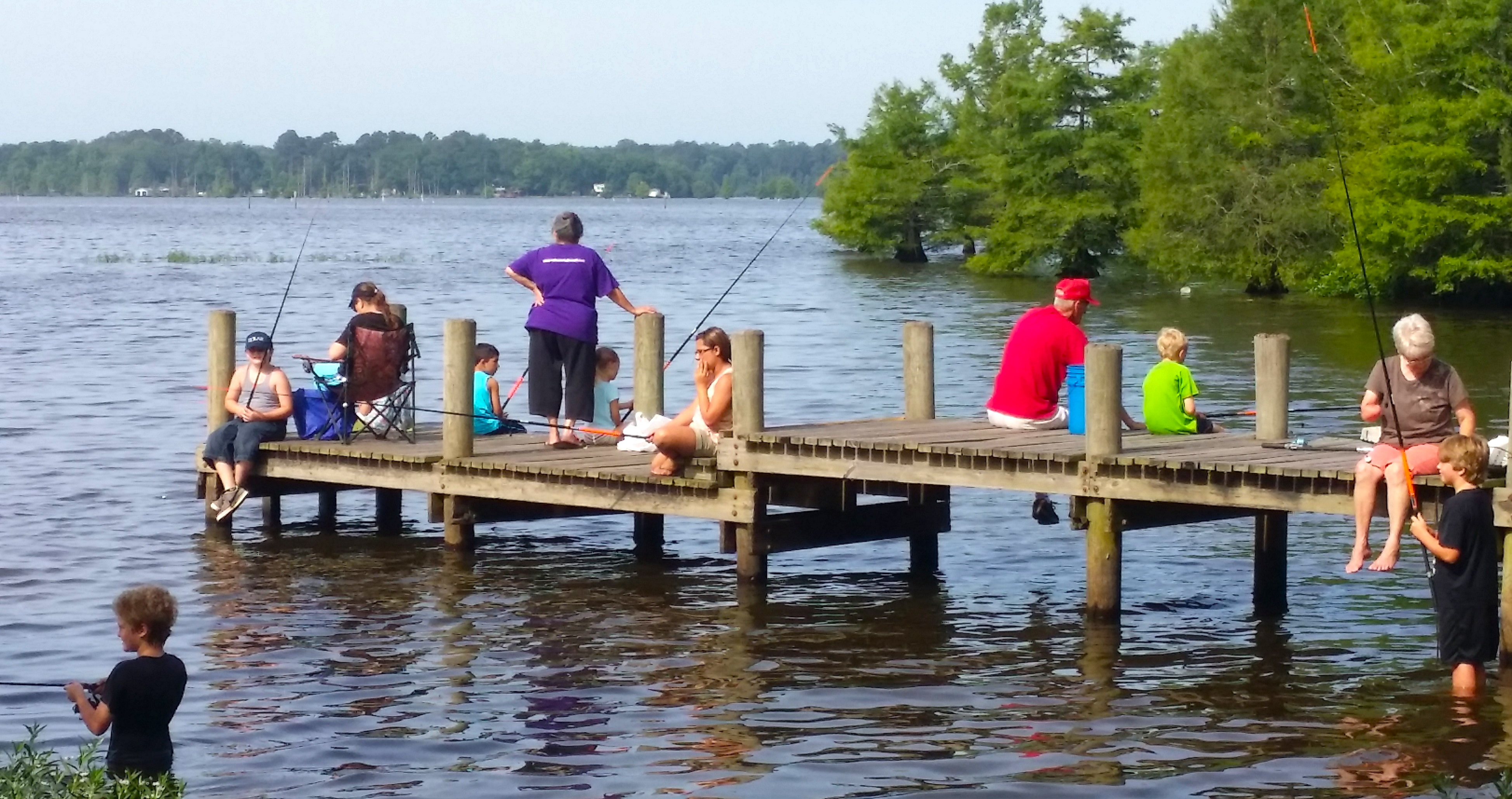 Kids fishing day on d arbonne lake darbonne life for Take me fishing lake locator