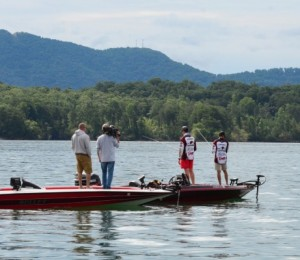 Nothing like a little added pressure -- like an ESPN camera crew -- filming your every move while you fish -- just ask ULM's