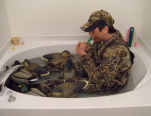 You can never get enough practice in for a good duck hunt -- decoy placement, calling skills...and check your waders for leaks.