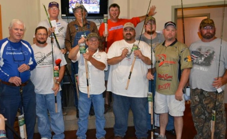 Winners of the B'n'M Duck Commander crappie poles!