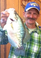 Bob Wells with a 3.28 crappie from Poverty Point