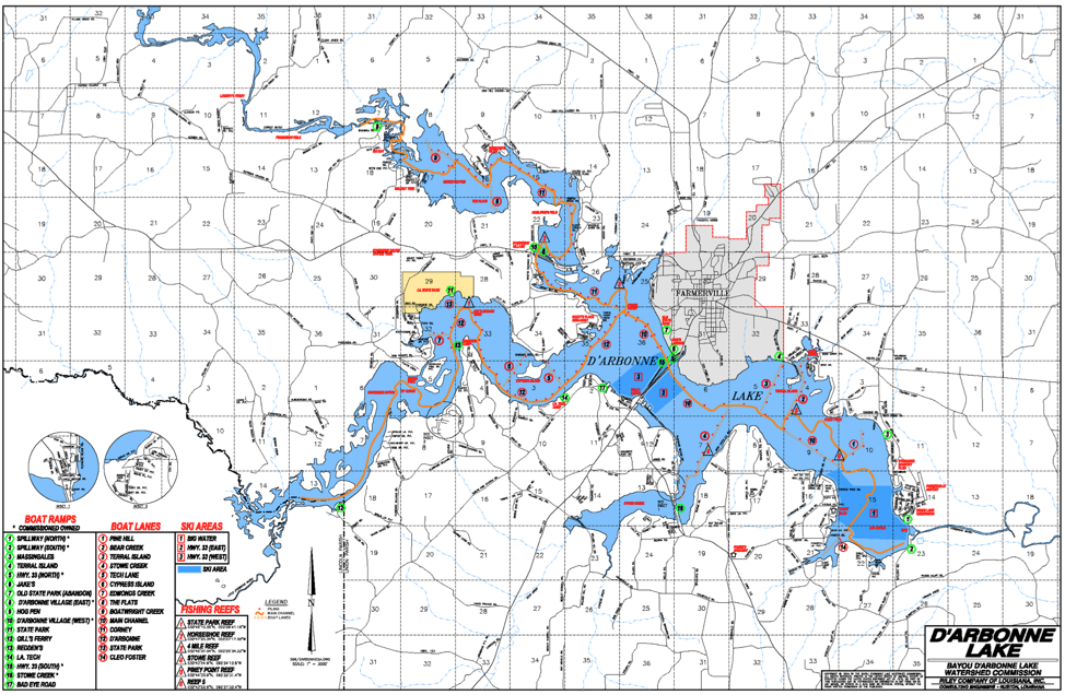 DArbonne Map Lake Darbonne Life - Louisiana lakes map