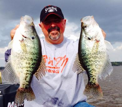 "Krappie King may have to change the name of their show to Crappie S L A B S if Karl Kalonka keeps coming to D'Arbonne. He and James Morgan of Farmerville caught these in a ""warm up"" round Wednesday afternoon."