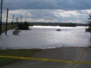 One problem with lake ramp and road maintenance is when they flood like this, they get torn up.
