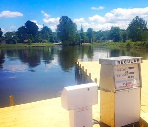 The new 24/7 non-ethanol gas pump at D'Arbonne Pointe -- on the water!