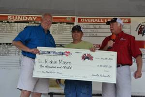 Richie Moore of West Monroe won last year's big check!