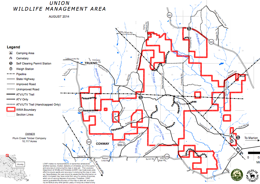 Union wildlife management area to close lake darbonne life for Lake d arbonne fishing report