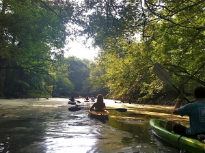 Canoeing down Corney Creek in Union Parish. Photo by Stephanie Hermann