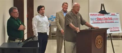 Dwight Landreneau, Quentin Durr, Sen. Mike Walsworth and Mayor Stein Baughman