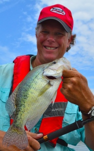 David Baynard with a Crappie caught using Drfitmaster Rod Holders