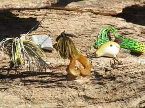 Some of Brett's favorite Ouachita River lures